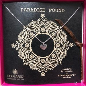 Dogeared Paradise Found Carefree Heart Necklace SS